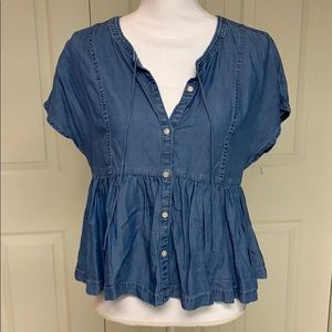 Aerie crop top with buttons size small